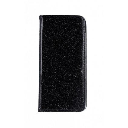 Flipové puzdro Magnet Book na Samsung A51 glitter čierne