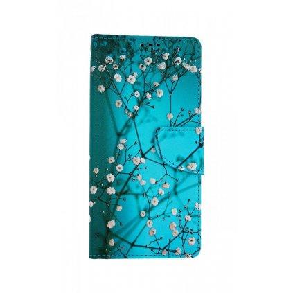 Flipové puzdro na Realme C11 Modré s kvetmi