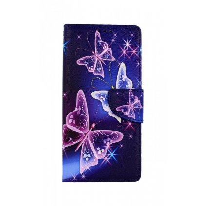 Flipové puzdro na Realme C11 Modré s motýlikmi