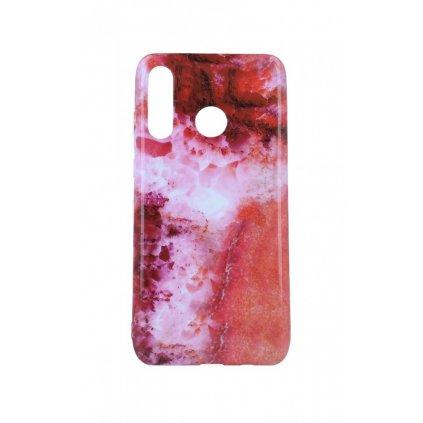 Zadný silikónový kryt na Huawei P30 Lite Mramor červený