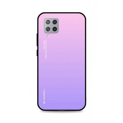 Zadný pevný kryt LUXURY na Samsung A42 dúhový ružový