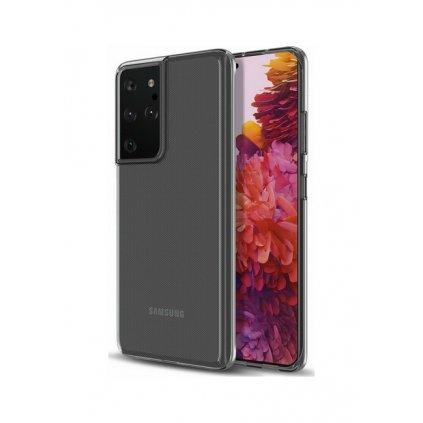 Ultratenký silikónový kryt na Samsung S21 Ultra 0,5 mm priehľadný