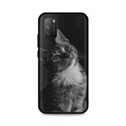 Zadný silikónový kryt DARK na Xiaomi Poco M3 Cute Cat