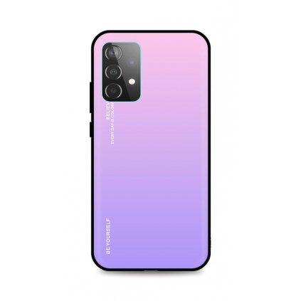 Zadný pevný kryt LUXURY na Samsung A52 dúhový ružový