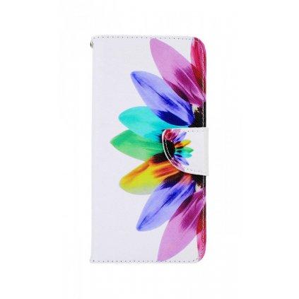 Flipové púzdro na Samsung A21s Farebná kvetina