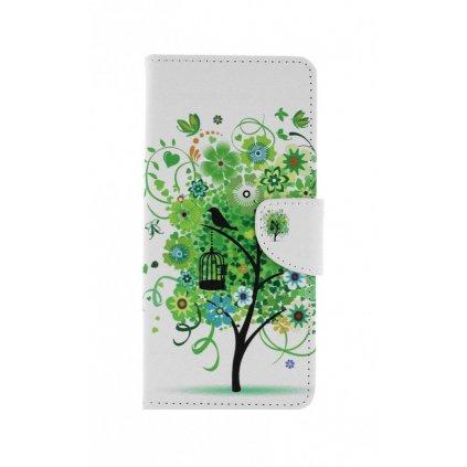 Flipové puzdro na Realme 7i Biele so stromom