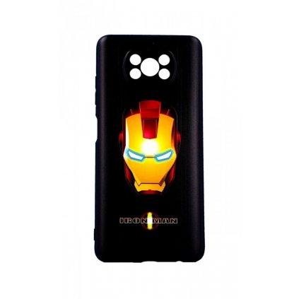 Zadný 3D silikónový kryt na Xiaomi Poco X3 Iron Man