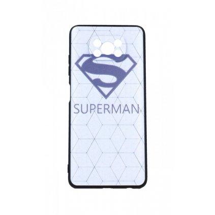 Zadný 3D silikónový kryt na Xiaomi Poco X3 Biely Superman