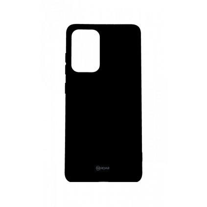 Zadný silikónový kryt Roar na Samsung A52 čierny