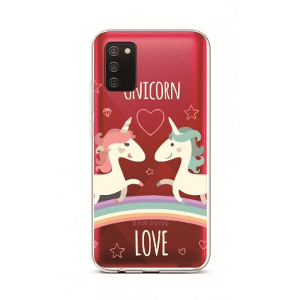 Zadný silikónový kryt na Samsung A02s Unicorn Love