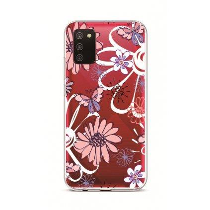 Zadný silikónový kryt na Samsung A02s Flowers