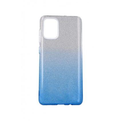 Zadný pevný kryt Forcell na Samsung A71 glitter strieborno-modrý