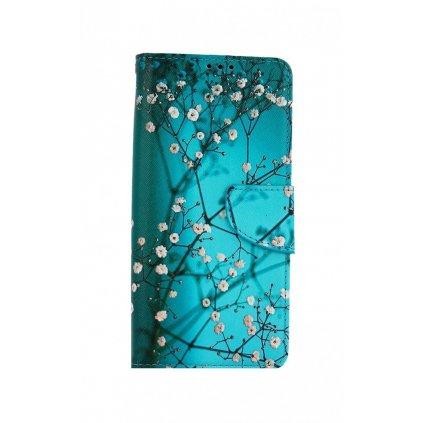 Flipové puzdro na Realme 7i Modré s kvetmi