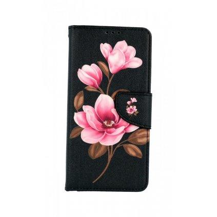Flipové púzdro na Samsung A12 Tri kvety