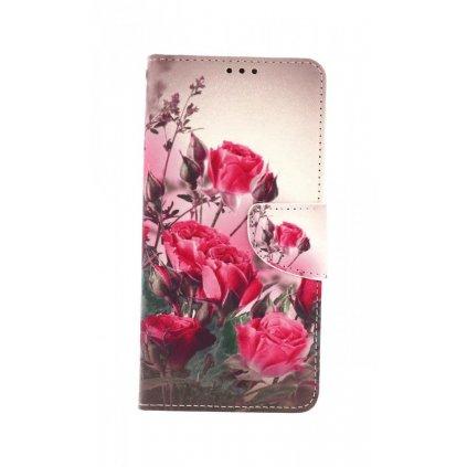 Flipové púzdro na Samsung A12 Romantické ruže
