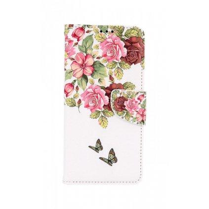 Flipové púzdro na Samsung A12 Nežné kvety