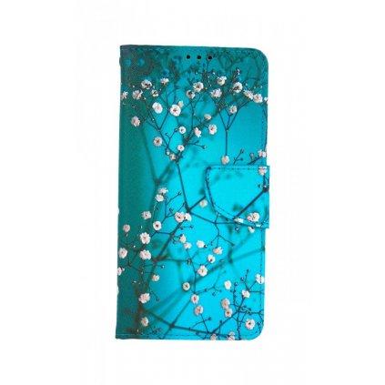 Flipové puzdro na Vivo Y11s Modré s kvetmi