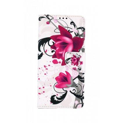 Flipové púzdro na Samsung A12 Kvetinová kresba