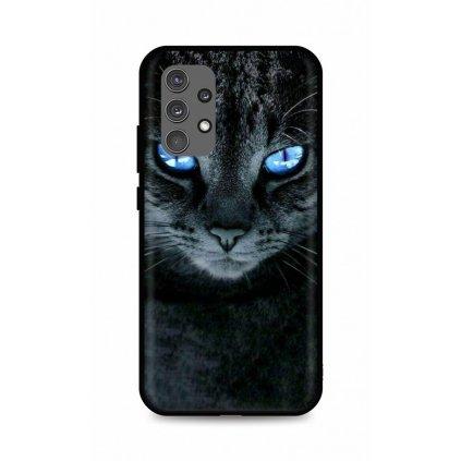 Zadný silikónový kryt DARK na Samsung A32 Dark Cat