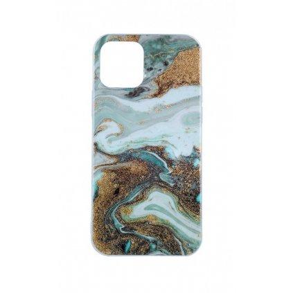 Zadný pevný kryt na iPhone 11 Pro Marble Glitter mentolový