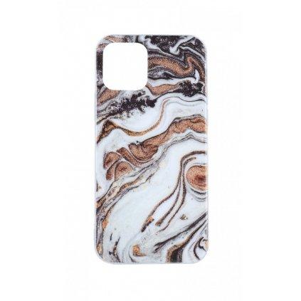 Zadný pevný kryt na iPhone 12 Pro Marble Glitter fialový