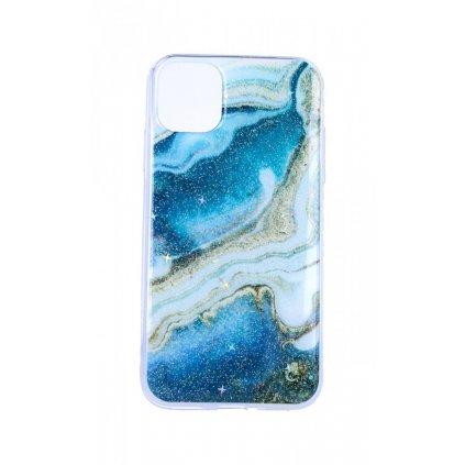Zadný pevný kryt na iPhone 11 Pro Marble Stone Navy