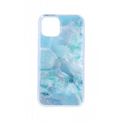 Zadný pevný kryt na iPhone 11 Pro Marble Stone Blue