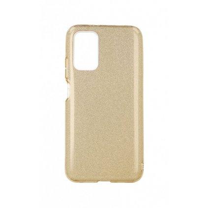 Zadný pevný kryt na Xiaomi Poco M3 glitter zlatý