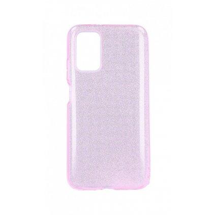 Zadný pevný kryt na Xiaomi Poco M3 glitter ružový