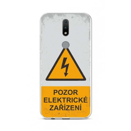 Zadný silikónový kryt na Nokia 2.4 Pozor elektrické zariadenie