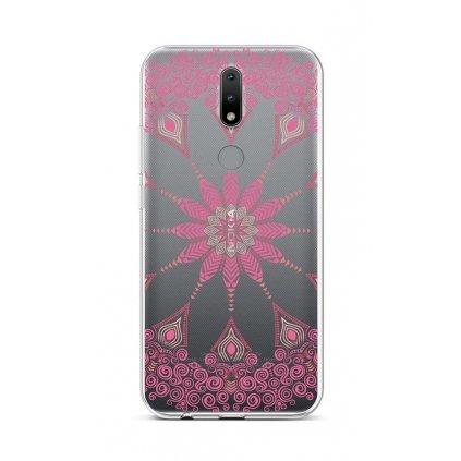 Zadný silikónový kryt na Nokia 2.4 Pink Mandala