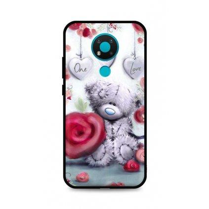 Zadný silikónový kryt DARK na Nokia 3.4 Teddy Bear