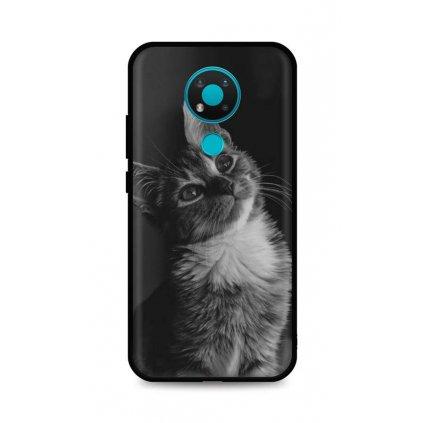 Zadný silikónový kryt DARK na Nokia 3.4 Cute Cat
