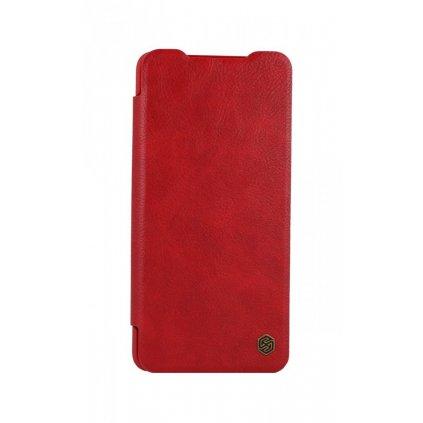 Flipové puzdro Nillkin Qin na Xiaomi Poco X3 kožené červené