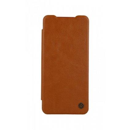 Flipové puzdro Nillkin Qin na Xiaomi Poco X3 kožené hnedé