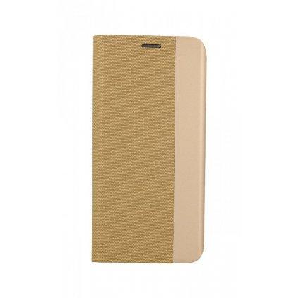 Flipové puzdro Sensitive Book na Samsung A72 zlaté