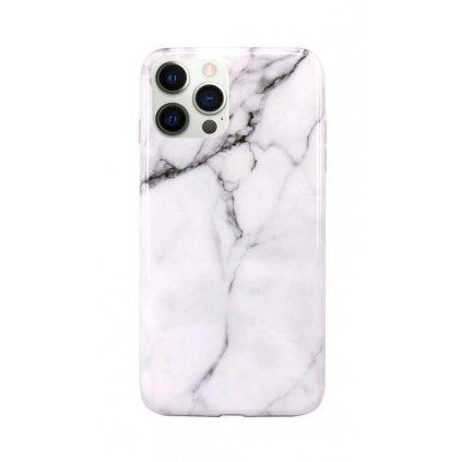Zadný silikónový kryt na iPhone 12 Pro Mramor biely