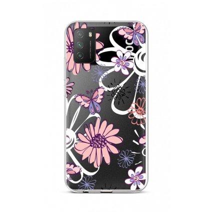 Zadný silikónový kryt na Xiaomi Poco M3 Flowers