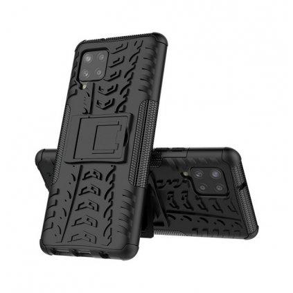Ultra odolný zadný kryt na Samsung A42 čierny