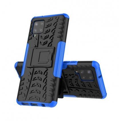 Ultra odolný zadný kryt na Samsung A42 modrý