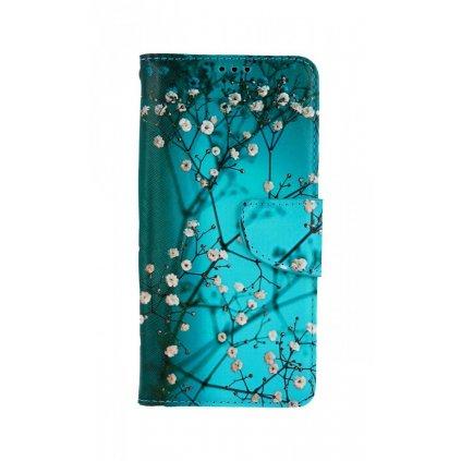 Flipové puzdro na Xiaomi Redmi Note 10 Modré s kvetmi