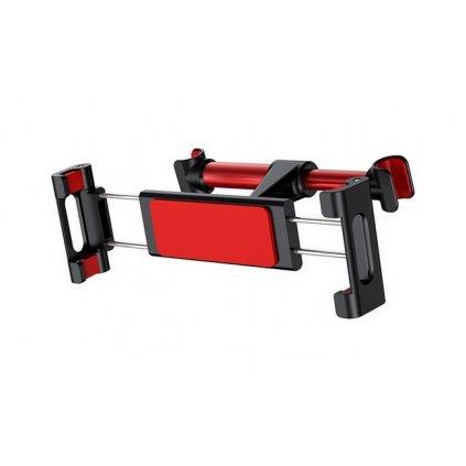 Držiak na tablet / mobil do auta Baseus SUHZ-91 na opierku hlavy červeno-čierny