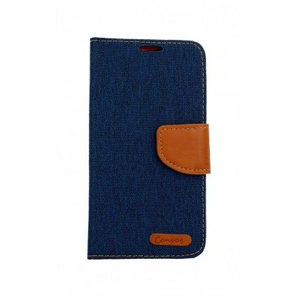 Flipové puzdro Canvas na Samsung A40 modrý tmavý