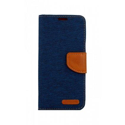 Flipové puzdro Canvas na Samsung A20e modrý tmavý