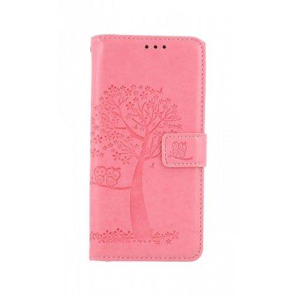 Flipové puzdro na Xiaomi Redmi Note 8 Ružový strom sovičky