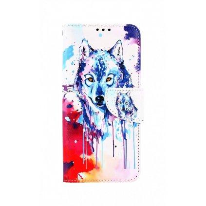 Flipové puzdro na Xiaomi Mi Note 10 Lite Kresba vlka