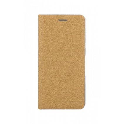 Flipové puzdro Luna Book na Samsung A20e zlato-strieborné