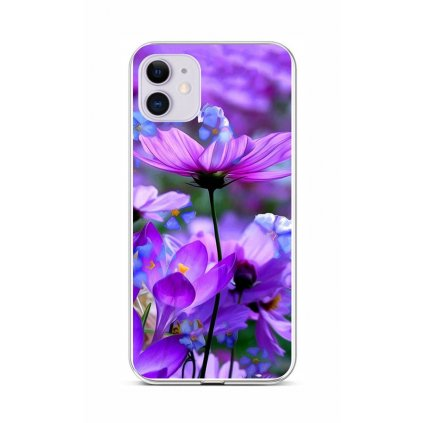 Zadný silikónový kryt na iPhone 11 Rozkvitnuté kvety