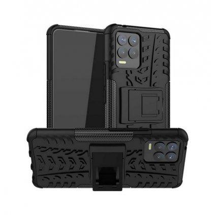 Ultra odolný zadný kryt na Realme 8 čierny