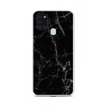 Zadný silikónový kryt STYLE na Samsung A21s Mramor čierny